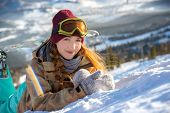 foto of snowboarding  - Winter sport - JPG