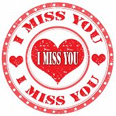 I Miss You-stamp