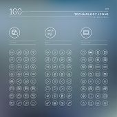 Set of icons for internet, media and technology poster