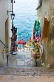 Narrow Stone Street Of Rovinj, Croatia