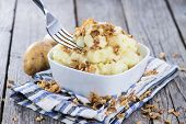 Mashed Potato With Fried Onions