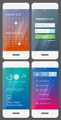 image of dial pad  - Mobile user interface template  - JPG