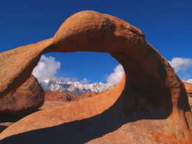 pic of mt whitney  - Beautiful arch taken in the Owens Valley with Mt Whitney in the background on March 11 2006 - JPG