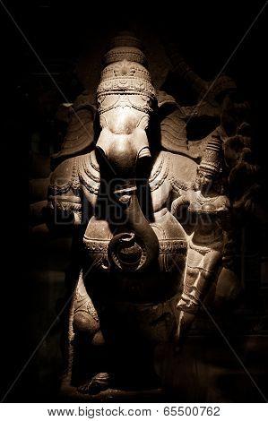 Statue Of Indian God Ganesha At Hindu Temple