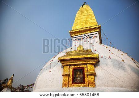 Buddhist Stupa In Bodnath