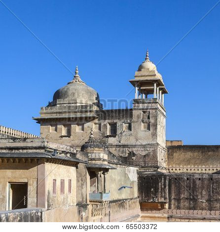 Facade Of Amber Fort In Amber,india