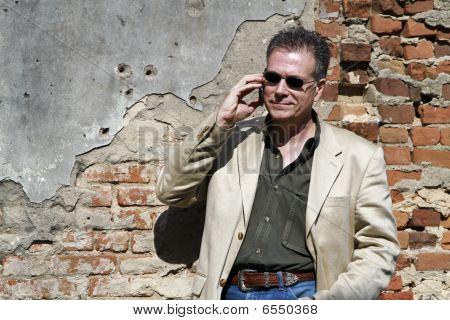 Wireless Communication Old Brick Wall