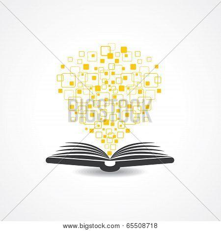 Hi -tech book concept stock vector