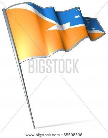 Flag Of Tierra Del Fuego Province (argentina)