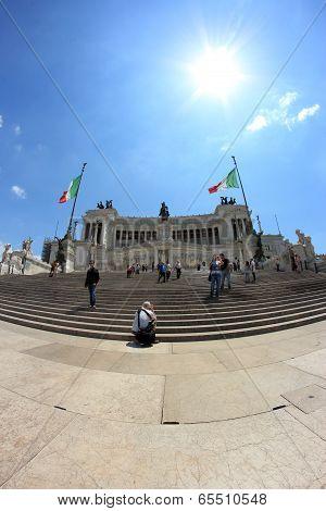 Altare Della Patria Monument In Rome