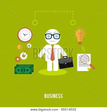 Businessmen With Cases Go On A Meeting