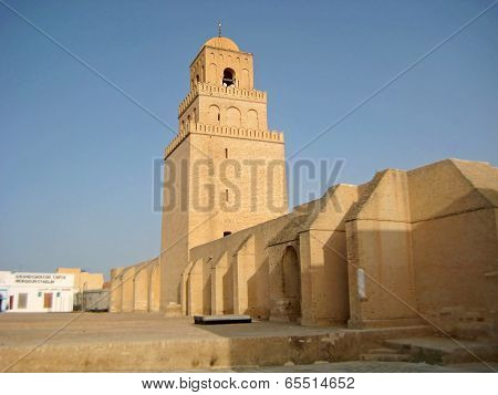 The Massive Walls Of The City Of Kairouan In Tunisia
