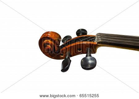 Fingerboard violin isolated on white background