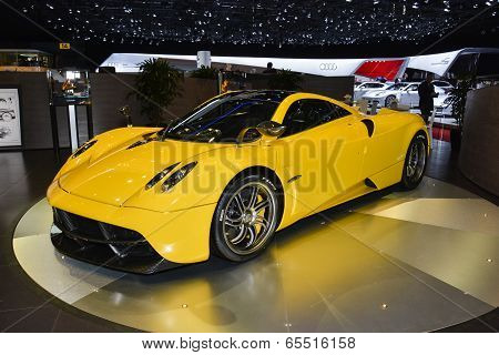 Pagani Huayra At The Geneva Motor Show