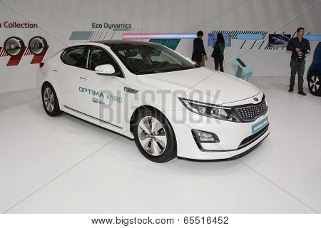 Kia Optima Hybrid At The Geneva Motor Show
