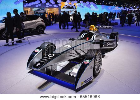 Formula E Electric Racer At The Geneva Motor Show