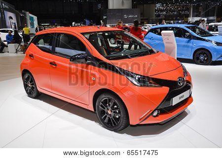 Toyota Aygo At The Geneva Motor Show