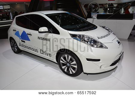 Nissan Autonomous Drive Car At The Geneva Motor Show