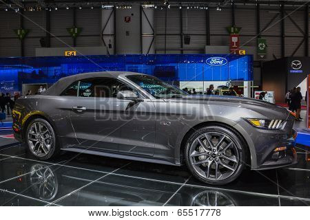 Ford Mustang Convertible At The Geneva Motor Show