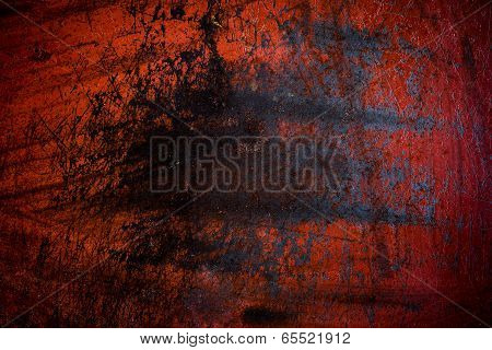 Grunge Red Iron Rust Background And Texture