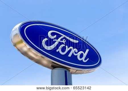 Ford Automobile Dealership Sign