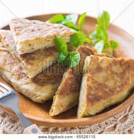 Stuffed pancake or pan-fried bread, Indonesian food.