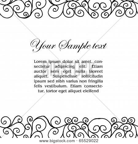 vector abtract black and white border