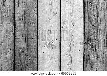 Fence With Wooden Planks In Leidschendam, Netherlands.