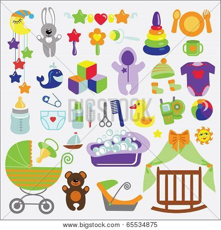 Newborn Baby Items Set Collection.baby Shower