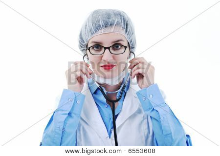 Isolated Adult Woman Nurse