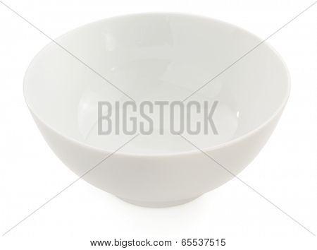 empty ceramic bowl isolated on white background