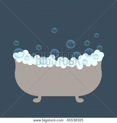 Bath With Foam