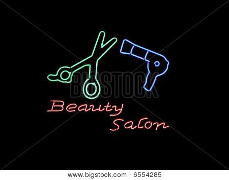 Neon Beauty Salon Sign