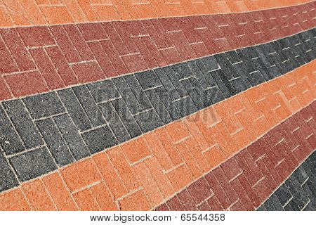 Colorful Urban Roadside Pavement Background Texture