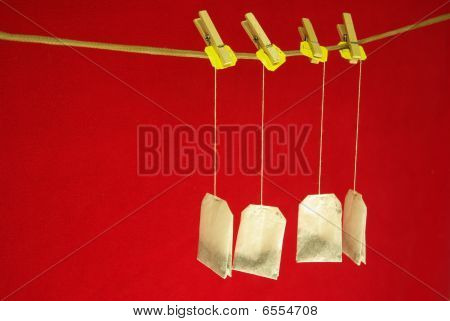 tea on clothespins