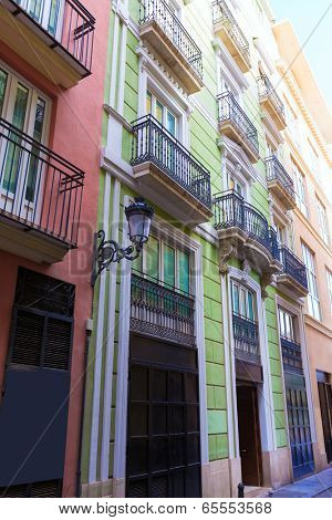 Valencia  Corretgeria Corregeria street near Plaza de la Reina at Spain