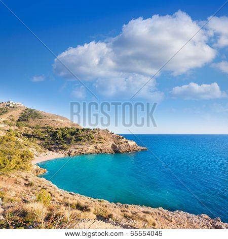 Benidorm Alicante cala Ti Ximo beach in Blue Mediterranean Spain