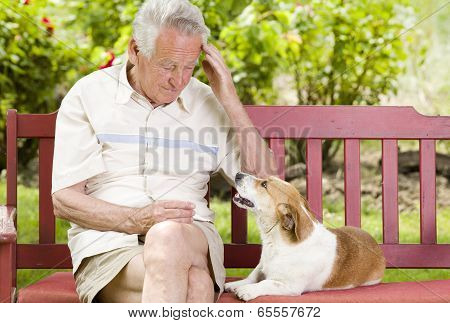 Senior Man With His Dog