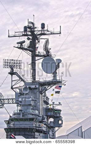 New York City - October 9: Uss Intrepid Essex-class Aircraft Carrier On Display In Manhattan In Octo