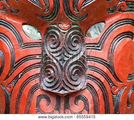 Beautiful maori carving. Rotorua, New Zealand
