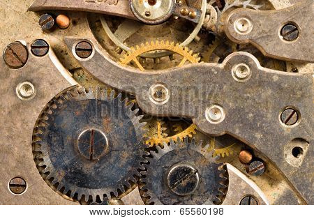 Vintage Rusted Watch Pocketwatch Time Piece Movement Gears Cogs