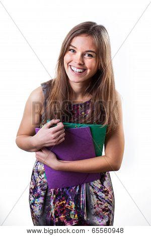 Graceful Smiling Female Student