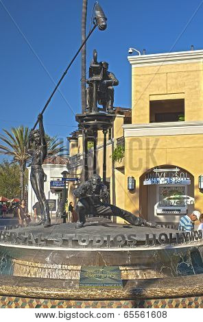 Hollywood- Usa, October, 3: Universal Studios Symbolic Composition Seen At Universal Studios In Los