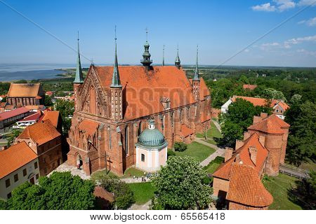 Frombork Cathedral, famous church where Copernicus work in Poland, Europe.