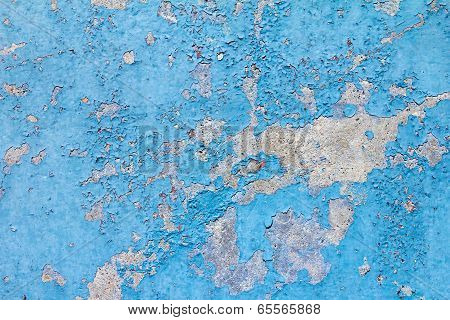 Old Blue Paint Background Texture