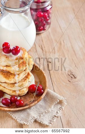 Russian Quark Pancakes Background