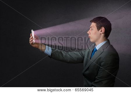 businessman with a cell phone