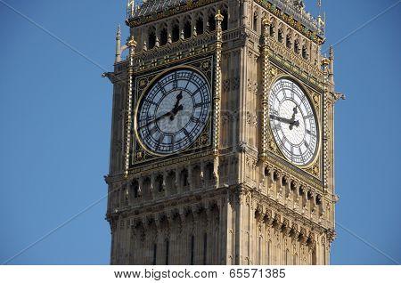 Clockface of Big Ben, Westminster, London