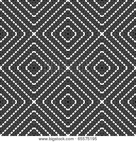 Design Seamless Monochrome Decorative Interlaced Diamond Pattern