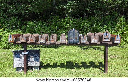 Postboxes In Shenandoah National Park